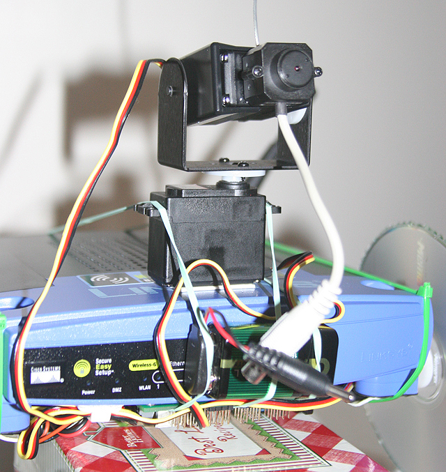 Routerbot v1 pan and tilt camera