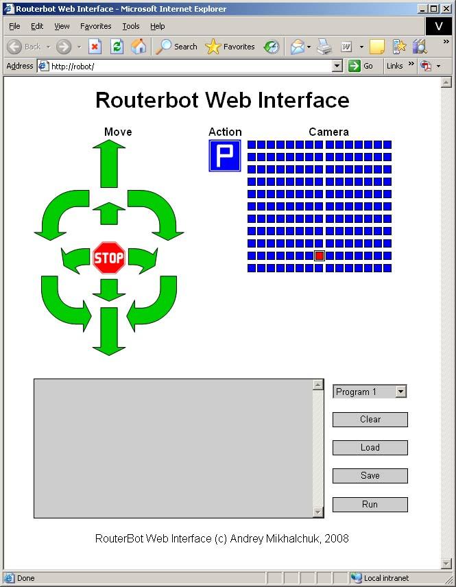 Routerbot v1 web interface