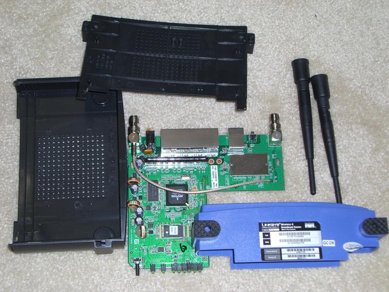 WRT54GL taken apart