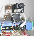 Wireless camera mounted on routerbot
